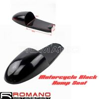 Black Motorcycle Hump Seat Pan Custom For Cafe Racer Suzuki GT 750 Yamaha V-Twin