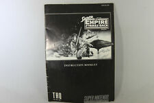Super Star Wars: The Empire Strikes Back Manual (Snes, Manual Only, No Game)
