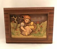 MJ Hummel 1987 Goebel Chick Girl  Hand Crafted Music Box