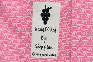 """Men's Vineyard Vines Martha's Vineyard Pink Silk Neck Tie made in USA """"Whales"""""""
