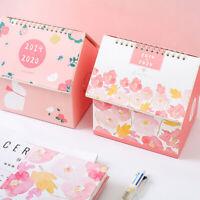 1PC 2020 Creative Folding House Desk Calendar  Calendars Desktop Storage BoxMA