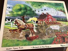 melissa and doug Wood 24 Piece Puzzle Animals On The Farm. Slightly Used