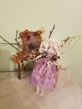 Handcrafted Superb Artisan miniature Dollhouse Fairy Doll with Vanity OOAK  1:12