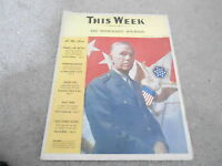 SEPT 13 1942 THIS WEEK newspaper - WWII MILITARY - GEORGE MARSHALL