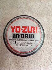 YO-ZURI HYBRID Fluorocarbon 12LB Line 2-600 Yard Rolls CLEAR NEW!