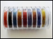 Tiger Tail Beading Wire (0.45mm) 100 Metres - 10 colors x 10 metre ea suncatcher