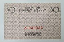 1940 GHETTO 50 PFENNIG Lagergeld Litzmannstadt  BANKNOTE