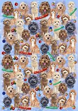 Cockapoo Dog Christmas Gift Wrapping Paper - by Starprint
