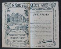 BUVARD PETITJEAN rue des Halles agence immobilière chateau Blotter Löscher