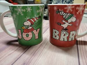 Snoopy Christmas Coffee Mugs