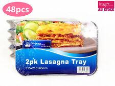 48pcs Lasagna Aluminium Foil Roaster Tray 315x215x46mm Bulk Lots C080x24 YW