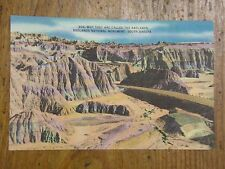 Vintage Postcard Why They Are Called The Badlands, South Dakota