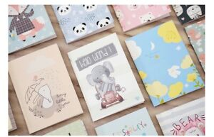 4 x Mini Cartoon Small Portable Notepad Paper Notebook Diary School