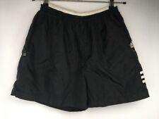 VTG 80s Adidas Black Windbreaker Soccer Retro Shorts Futbul Striped Zip Pocket M