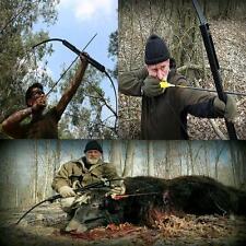 New 40# Archery Folding Recurve Bow Black Hunting Practice RH Take Down Longbow