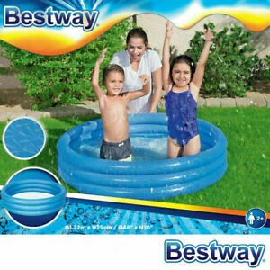 """BESTWAY PADDLING GARDEN POOL KIDS FUN FAMILY SWIMMING OUTDOOR INFLATABLE 48""""x10"""""""