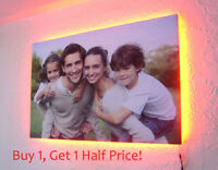 Your Photo To LED BACKLIT Canvas : 30 x 30 INCH : USB Powered Personalised Art