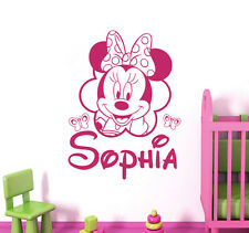 Personalized Name Wall Decal Mickey Mouse Decals Room Girls Nursery Decor DR88