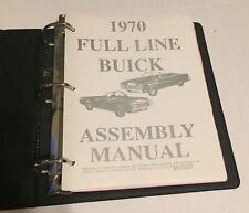 Vintage - 1970 Buick Assembly Manual Book Rebuild Instructions Illustrations