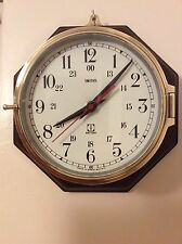 "Vintage Brass Smiths Tuning Fork 6"" Ships Clock"