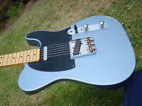 Fender Custom Shop 50's 1950's Esquire Relic Ice Blue Telecaster Chunky Neck