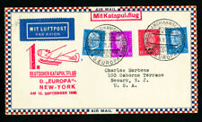 Germany Stamps Rare Katapultflug Cover D. Europa