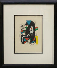 Joan Miro (Spanish, 1893-1983) From La melodie acide, 1980 color lithograph