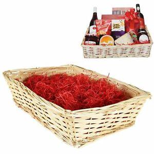 Make Your Own Christmas Hamper Basket Kit, Cellophane Bow Large Craft Gift Box