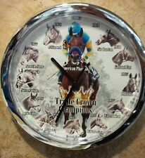 American Pharoah - Triple Crown Winner - Silver - Custom made Wall Clock