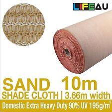 90% UV SAND Shadecloth 3.66m x 10m Domestic Extra Heavy Duty Shade Cloth 195g/m2