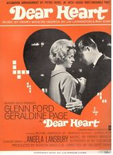 """DEAR HEART"" ACCORDION SHEET MUSIC-HENRY MANCINI/GLENN FORD/ANGELA LANSBURY-1964"