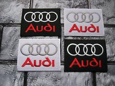 4x Aufnäher Audi Racing Patch Motorsport Autocross Autosport Tuning GT Race GTI