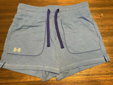 NEW WITH TAGS UNDER ARMOUR GIRLS YOUTH MEDIUM 10/12 BLUE SHORTS