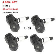 4x TPMS OEM 40700-1LA0A Tire Pressure Monitor Sensor 315MHz For Nissan Infinit