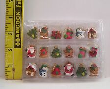 VINTAGE FASHION DOLL SIZE MINIATURE CHRISTMAS ORNAMENT LOT OF 18 POLYSTONE