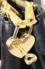 NEW HIGH END HANDBAG BAG REPLACEMENT LOCK & KEY HEART CHARM GOLD TONED MK - RL