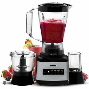 Geepas High Speed Professional Food Blender Powerful Smoothie Maker Mixer 3 in 1