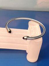 DESIGNER INSPIRED New SILVER SPIRAL BANGLE BRACELET STONE CRYSTAL  SALE Gift Bag