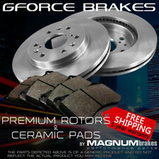 Front Premium Rotors & Ceramic Pads for 1988-1997 GMC K2500 4WD (6 bolts)