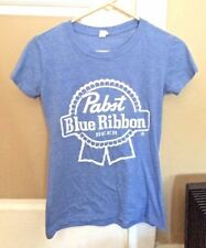 BRAND NEW Pabst Blue Ribbon PBR Beer Women's Baby Blue Heather T-Shirt Medium M