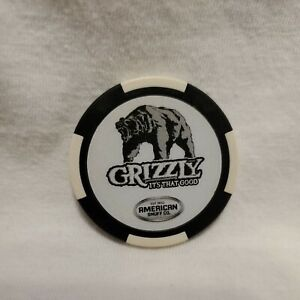 Grizzly Snuff Exclusive Promo Poker Chip Black & White