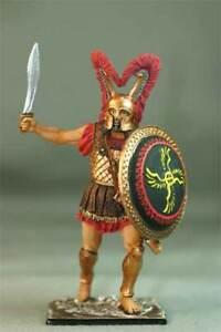 Painted Tin toy soldier 54mm. Greek Hoplite, 480 BC