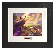 Thomas Kinkade Lion King 11 x 14 Modern Home Collection Espresso Frame