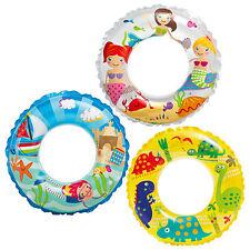 Schwimmring Schwimmreifen Wasserspielring Kinder Ø 61 cm - transparent bunt
