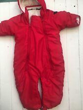 Polarn O Pyret Snowsuit | 6-12 Months | Red Boys Unisex | Snow Suit Prawn Suit