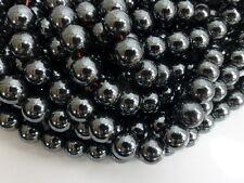 25 x 10 mm non magnétique noir hématite perles rondes, pierres précieuses (gb1018)