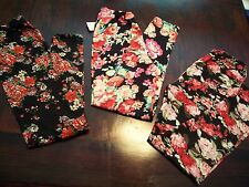 "3 Pair of Women's Leggings - Large - Multi Color - Stretches  22""-48""  in waist"