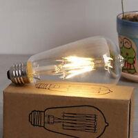 40s Vintage Rétro Edison E27 2w-8w visse del Filament Ampoule ST64 GLOBE LAMPE