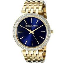 100% New Michael Kors Darci Crystal Gold-Tone Stainless Steel Women Watch MK3406