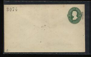 Mexico   10 cent dark green   postal  envelope  unused      MS0213